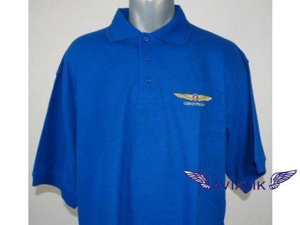 Polokošile s výšivkou CZECH PILOT modrá barva