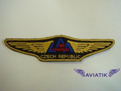 Nášivka LAA Czech Pilot - tmavá