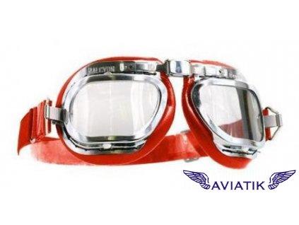 Retro brýle - červené