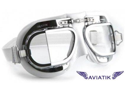 Retro brýle - bílé