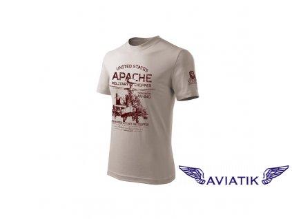 Tričko s bojovým vrtulníkem APACHE AH 64D