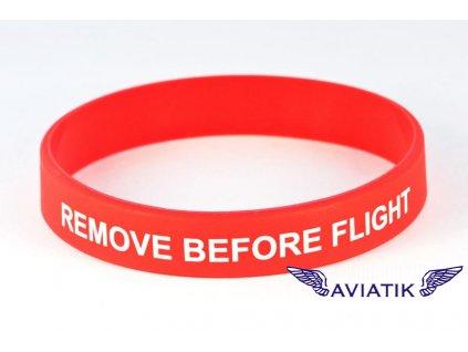 Silikonový náramek Remove before flight