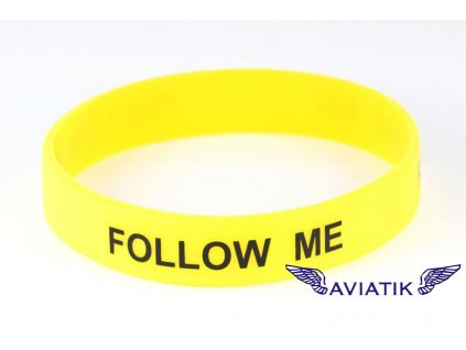 Silikonový náramek Follow me