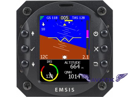EMSIS PFD - KANARDIA 80mm  EMSIS PFD, AHRS