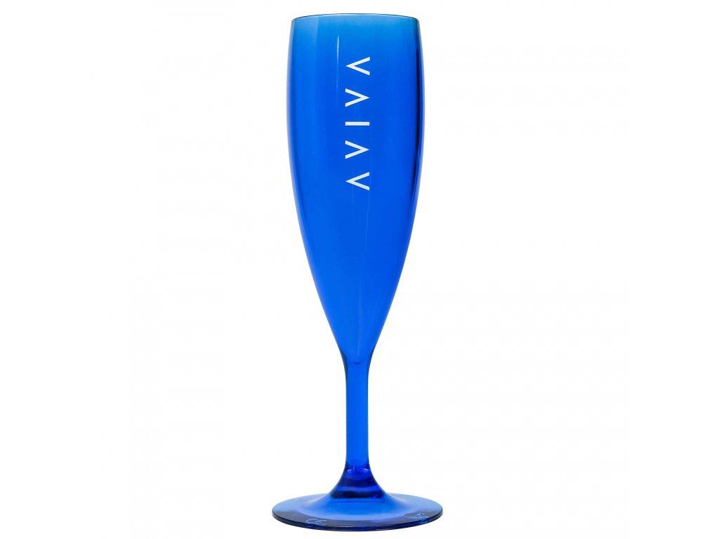 sklenicka modra