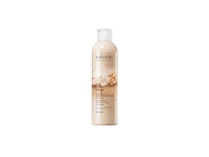 Avon Naturals Osvěžující sprchový gel s vanilkou a santalovým dřevem 200 ml