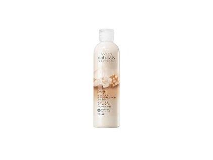 Avon Naturals Hydratační tělové mléko s vanilkou a santalovým dřevem 200 ml