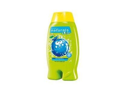 Avon Jemný sprchový gel a pěna do koupele 2 v 1 s borůvkou Naturals Kids 250 ml