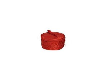 Avon Červená kulatá kosmetická taštička s mašlí