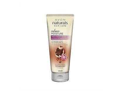 Avon Naturals Maska na vlasy s granátovým jablkem a kaméliovým olejem pro barvené vlasy 125 ml