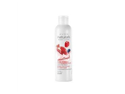 Avon Naturals Osvěžující sprchový gel s jogurtem a vůní granátového jablka a lesního ovoce 200 ml