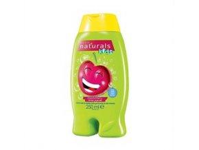 Avon Jemný sprchový gel a pěna do koupele 2 v 1 s třešní Naturals Kids 250 ml