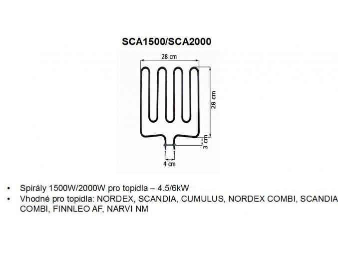 topna spirala sca1500 sca2000