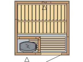 sauna 1515 rozvrzeni