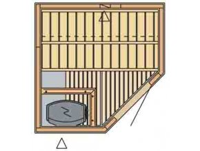 sauna 1515C rozvrzeni