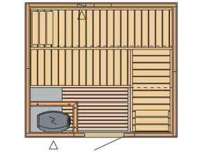sauna 2320 rozvrzeni