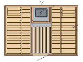 sauna 3020 rozvrzeni