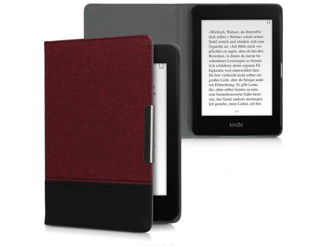 pouzdro obal kw kindle amazon paperwhite4 duo cervene cerne f1