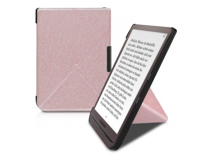 pouzdro obal pocketbook touch HD3 632 627 616 ruzove origami f1