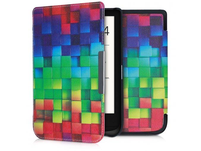 pouzdro obal hardcover barevne kostky pocketbook 616 627 632 f1