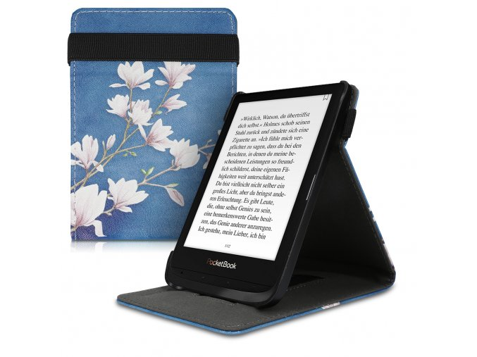 pouzdro obal flip pocketbook touch lux 4 basic lux 2 touch hd 3 magnolie 632 616 627 f1