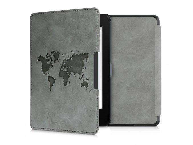 obal pouzdro worldmap nubuck kw kindle amazon paperwhite 4 f1