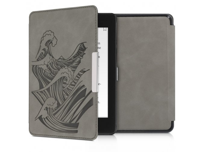 obal pouzdro kw hardcover nubuck vlny amazon kindle paperwhite4 f1