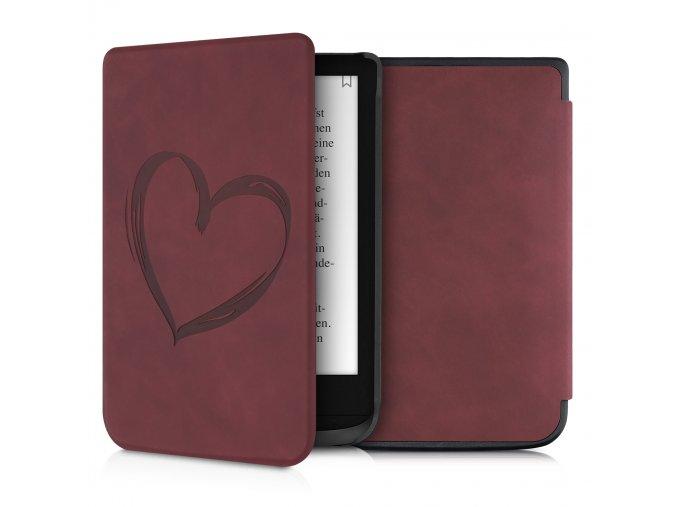 pouzdro obal nubuck red love pocketbook 616 632 627