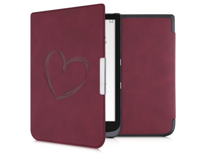 pouzdro obal nubuck red stojanek heart cervene pocketbook inkpad 3 740 color f1