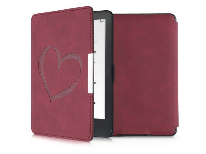 pouzdro obal hardcover nubuck red heart amazon kindle paperwhite1 2 3 f1