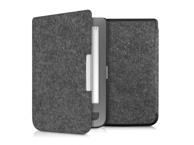 pouzdro obal filz tmave sede pocketbook touch lux 3 f01
