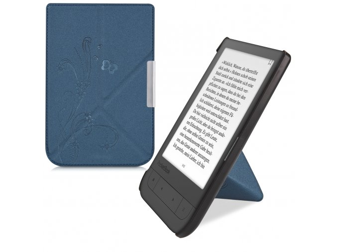 pouzdro kw wine origami modre pocketbook touch HD2 f01