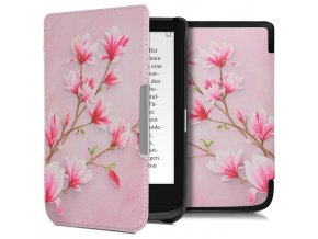 pouzdro obal pink flowers pocketbook 616 627 632 touch hd3 f1