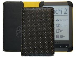 ebppk1001 pouzdro pocketbook touch dots zlute 00