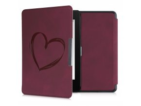 obal pouzdro heart red nubuck kw kindle amazon paperwhite 4 f1