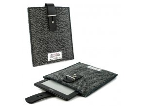 m22 1 pouzdro obal harris tweed herringbone cerne 6 ctecky kindle pocketbook 01