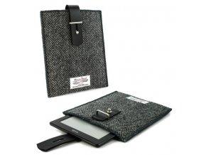 m22 1 pouzdro obal harris tweed herringbone cerne 6 ctecky kindle pocketbook 01