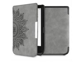 pouzdro obal nubuck mandala grey pocketbook pb 627 632 f1