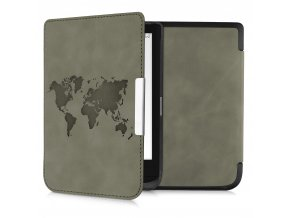 pouzdro obal nubuck worldmap brown pocketbook pb 627 632 f1