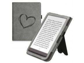 pouzdro obal nubuck stojanek heart sede pocketbook inkpad 3 740 color f1