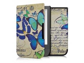 pouzdro obal kw motyli pocketbook touch hd 631 f0