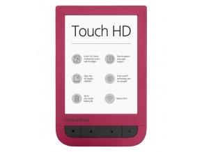 Pocketbook Touch HD 631 ČERVENÝ  + ZDARMA 7500 KNIH + OCHRANNÁ FÓLIE NA DISPLEJ + BALÍČKY KNIH V HODNOTĚ PŘES 600 Kč + GARANCE 0 VADNÝCH BODŮ NA DISPLEJI!