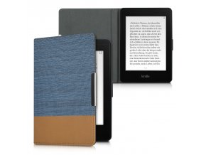 pouzdro obal kw kindle paperwhite 3 dual blue brown f01