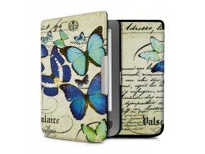 pouzdro obal kw motyli pocketbook touch lux 3 f1