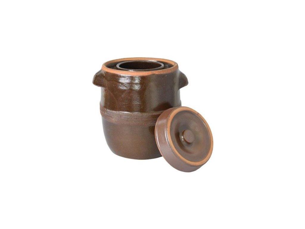 Zelák - sud na zelí 10l + víko, keramika