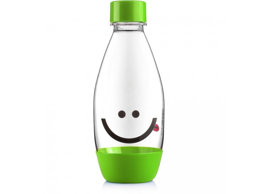 Láhev 0,5l dětská Smajlík, zelená, Sodastream