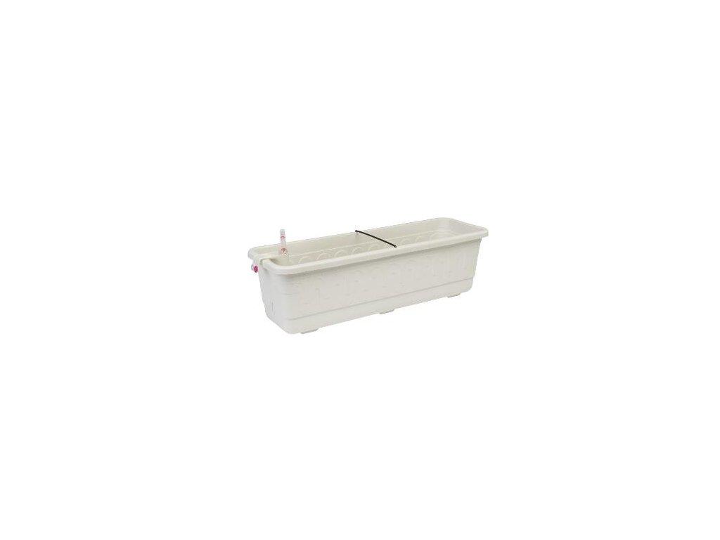 Samozavlažovací truhlík 60 cm Smart Systém Fantazie - bílá
