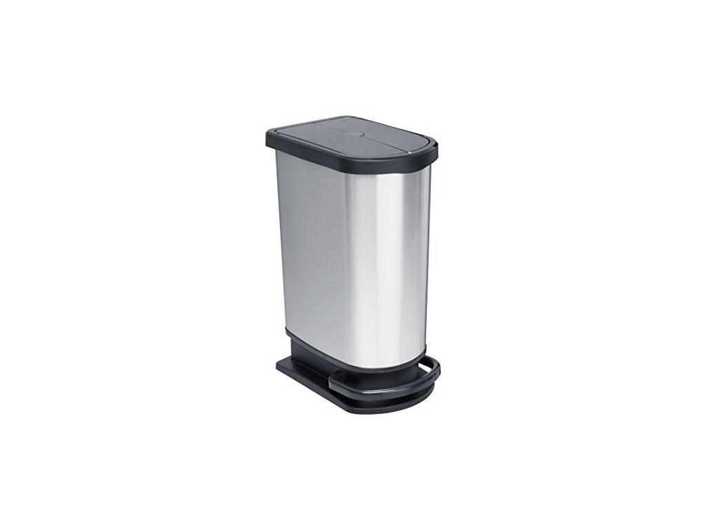 Odpadkový koš na tříděný odpad 50l PASO DUO, pedál,29x44x67cm, Rotho