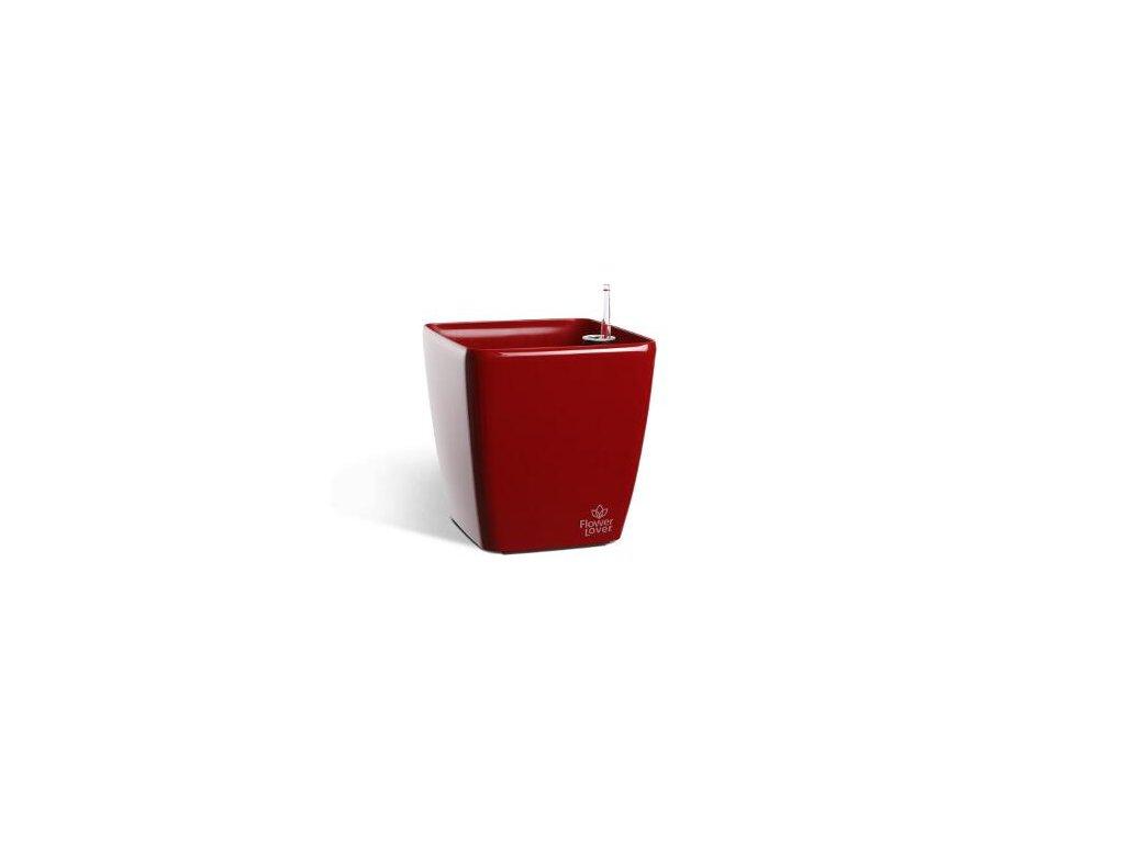 Samozavlažovací květináč 25x25x24 cm,  Flower Lover Quadrato - červená