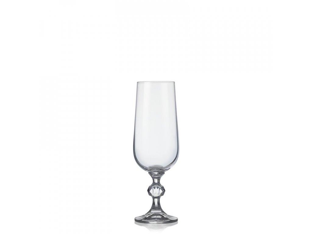 Sklenice na šampaňské CLAUDIA 180 ml, 6ks,Crystalex
